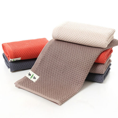 Comfortable Honeycomb Waffle Soft Cotton Towel Plain Thickened Cotton Towel J