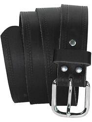 Ledergürtel 3 cm breit schwarz! Überlänge bis 180 cm Herrengürtel Jeansgürtel