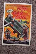 Hot Car Girl Lobby Card Movie Poster Richard Bakalyan June Kenney John Brinkley
