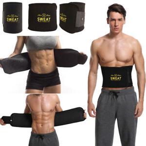 f3a6aa9a3bc Men Waist Training Trimmer Exercise Belt Burn Fat Sweat Women Sport ...