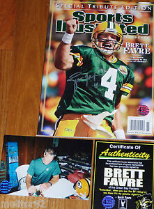 GREEN BAY PACKERS BRETT FAVRE 4 SIGNED Special Tribute SPORTS ... c2547f258