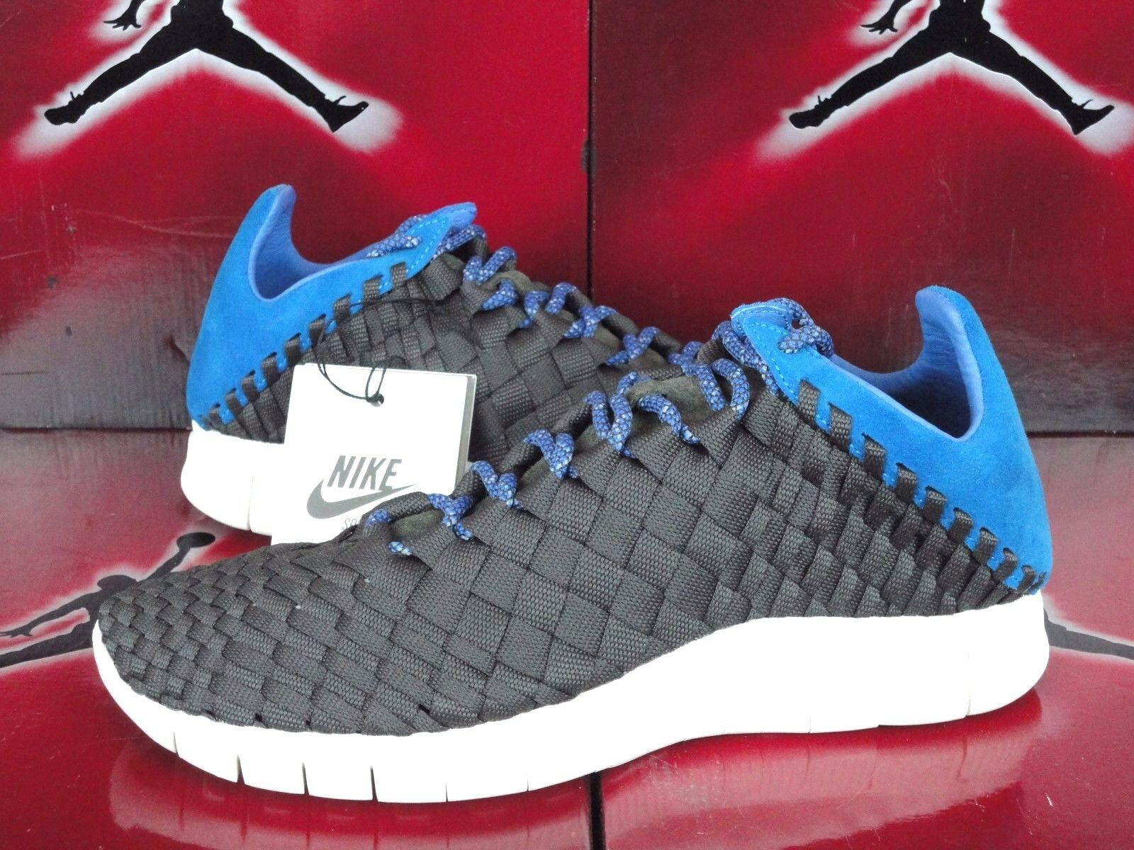 NIKE FREE INNEVA WOVEN NEWSPRINT GREY-blueE HERO-SAIL SZ 9.5 [579916-004] SP LAB