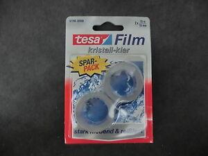 tesa-FILM-Doppelpack-57766-kristall-klar-2-x-10-0m-x-15-0mm-1m-0-099-WS