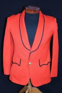 RARE-VINTAGE-OSTWALD-1960-039-S-ORANGE-BAND-JACKET-SIZE-EXTRA-SMALL-34