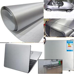 Brushed-Aluminium-Car-Vehicle-AUTO-Air-Drain-Wall-Table-Vinyl-Decal-Wrap-Sticker