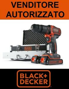 BLACK-DECKER-AVVITATORE-TRAPANO-PERCUSSIONE-2-batterie-18V-litio-KIT-80-acc