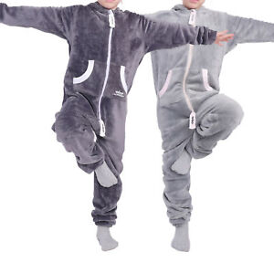 LIL-039-Finch-Kinder-Jumpsuit-LIL-039-Teddy-F2004-Jungen-Maedchen-Overall-Teddy-Fleece