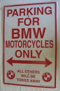 MKLUNG Plaque murale r/étro en m/étal avec inscription /« Honda Motos Parking Only Others Be Towed /» 20,3 x 30,5 cm