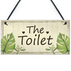 Shabby Chic Toilet Sign Door Plaque Bathroom Sign Bathroom