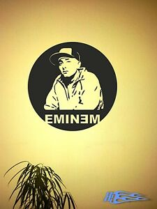Wandtattoo-EMINEM-Wandaufkleber-Music-Rap-Hip-Hop