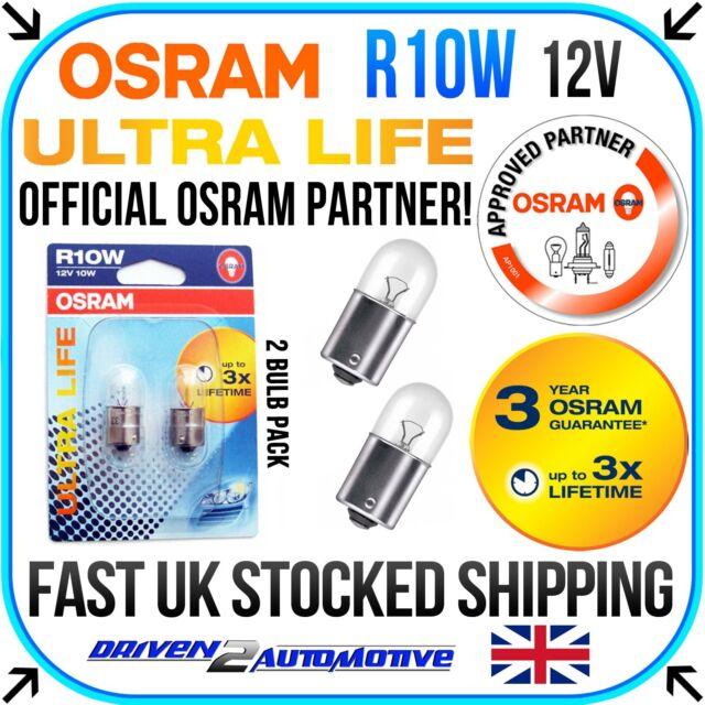 2x OSRAM R10W ULTRA LIFE BULBS 12v 10w VESPA PX PX 125 FL DT (ZAPM47100) 01.01-