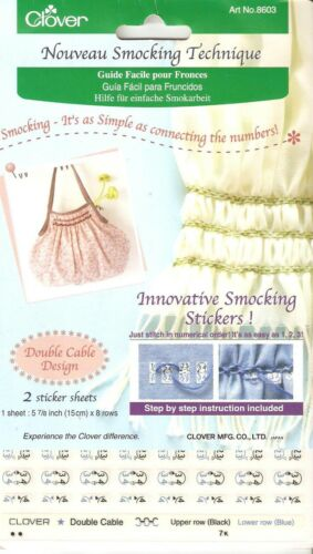 Clover Smocking Sewing Technique Double Cable Design 8603