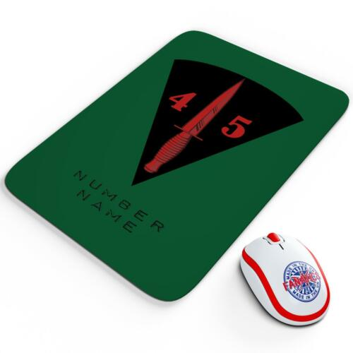 Personalised Royal Marines 45 Commando Mouse Mat Pad Gaming Computer Gift RM18