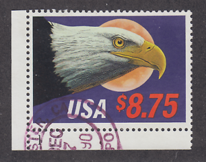 US-Sc-2394-used-1988-8-75-Eagle-in-Flight-Express-Mail-stamp-Plate-1-single