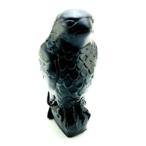 Vintage-Maltese-Falcon-Statuette-Full-Size-Prop-Statue-Plaster-Nearly-12-034-Tall