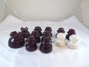 Vintage Ceramic Porcelain Insulators