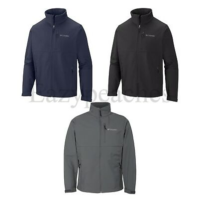 Columbia Sports - Mens S-XL, 2XL, 3XL, BLACK Soft Shell Jacket, Full Zip Coat