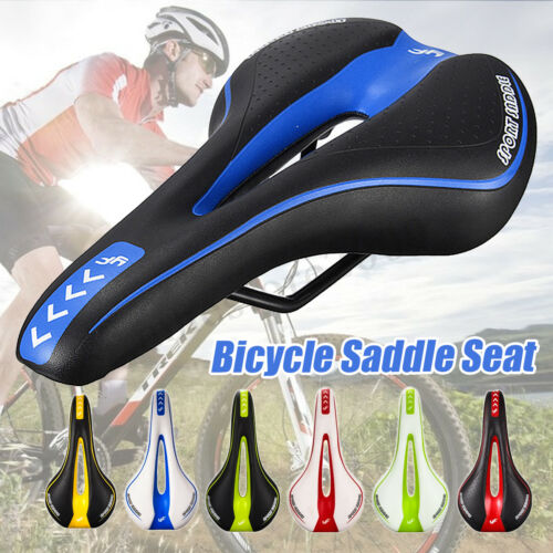 Road MTB Bike Bicycle Cycling Saddle Gel Comfort Hollow Seat Cushion Pad Leather