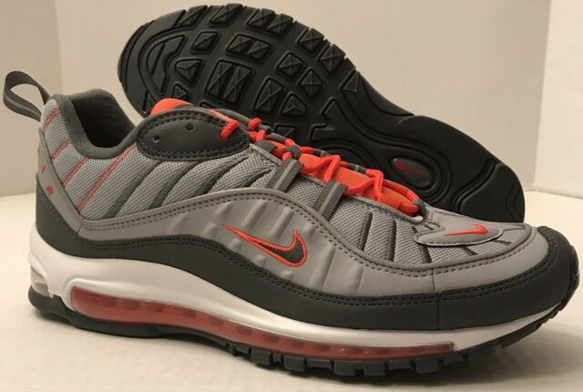 9dfe71af9e Nike Air Max 98 Mens 640744-006 Total Crimson Wolf Grey Running Shoes Size  11