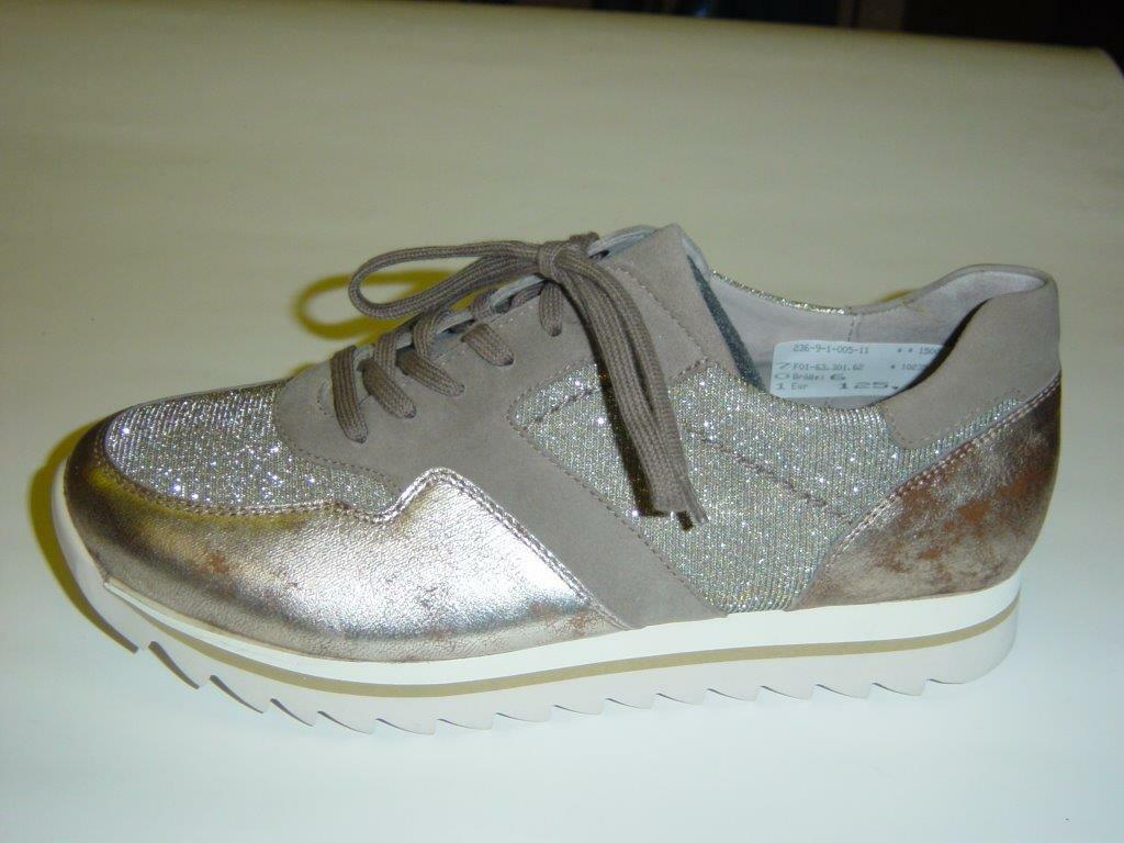 Gabor Chaussures basses baskets   Or Beige Argent   Cuir   Taille UK 5,5 6 6,5 7,5