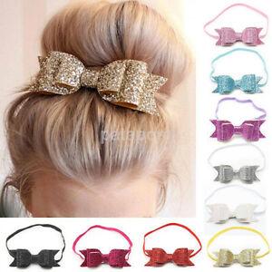 Cute-Baby-Girls-Flower-Hair-Accessories-Hairband-Bow-Elastic-Band-Headband-New