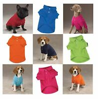 Polo Dog Shirt Preppy Button Down Cotton Shirts For Dogs 5 Colors To Choose From