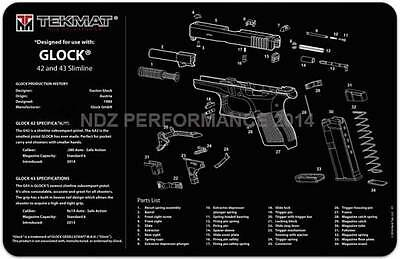 Tekmat Gun Cleaning Mat for Glock 42 and 43 9mm .380