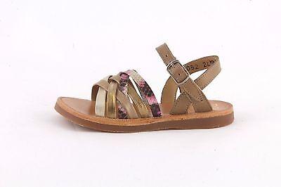 Pom d/'Api Plagette Knot Rose//light pink leather girl/'s sandal with knot detail