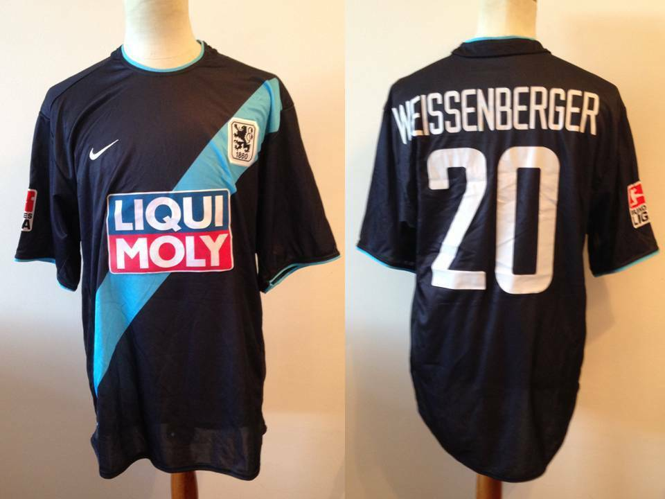 TSV 1860 Munich 2003 match worn shirt Weissenberger paz Copa Corea
