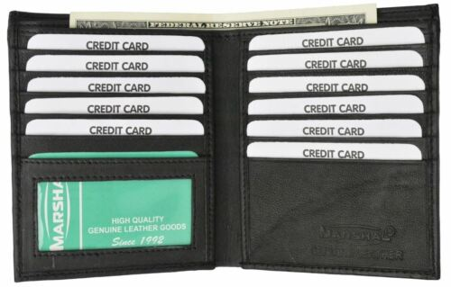 Genuine Soft Leather European Hipster Multi Credit Card ID Bifold Slim Wallet