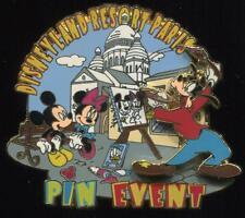 DLRP DLP Paris Bonjour Paris Pin Event Mickey Minnie & Goofy LE Disney Pin 47358