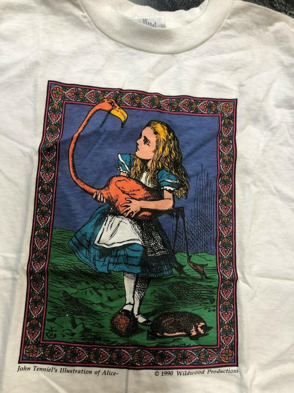 Vintage T Shirt - John Tenniels Illustrations Of … - image 2