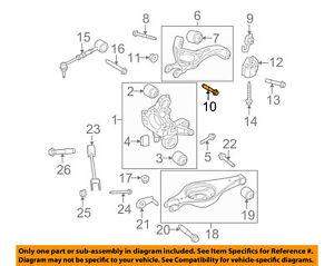Ford Explorer Flex OEM Rear Suspension Control Arm Bolt 4 PACK W715127-S439