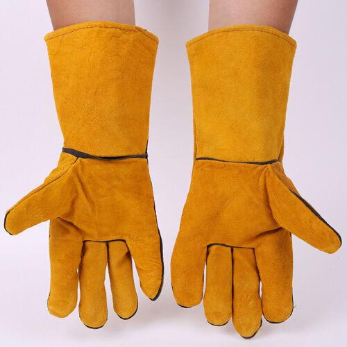 Tig Mig Leather Welding Wear Heat Resistant Welder Protective Work Gloves