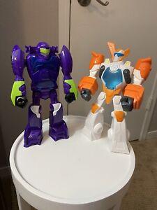 "Hasbro Transformer Rescue Bots Set of 2 Blurr & Blades 12"" Action Figures EUC"