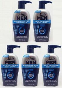 5 Nair Men Hair Remover Body Cream Quick Easy Back Chest Arms