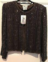 J Kara York Vtg Beaded Embellished Jacket Stunning Size Large Chest 43