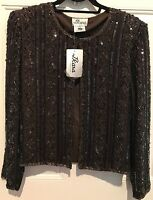 J Kara York Vtg Beaded Embellished Jacket Stunning Size Large Chest 43