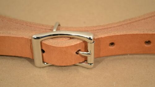 """F14 1 Pair Breast Collar Tugs Russet Leather 3//4/"""" x 28/"""""""