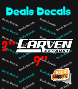 CARVEN Exhaust Racing window Vinyl Decal Sticker Performance Chevy Ram Dodge
