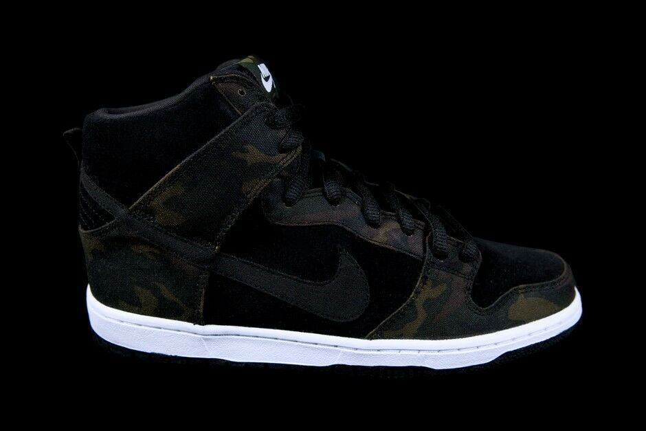 Nike Dunk High Pro SB CAMO Sz 7.5-12 IGUANA schwarz schwarz schwarz 305050-205 189108
