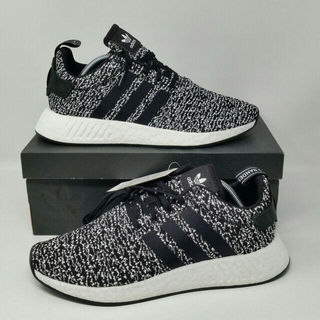 pretty nice 7f46d fe46f adidas NMD R2 Oreo Black / White Mens Running Shoes B22631 ...
