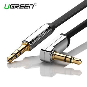 3.5mm Male to Male Car Auxiliary Aux Cord Right Angle Audio Cable.For Phone PC