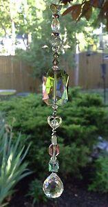 Handmade Healing Green Crystal Swarovski Element Suncatcher/Pri<wbr/>sm USA