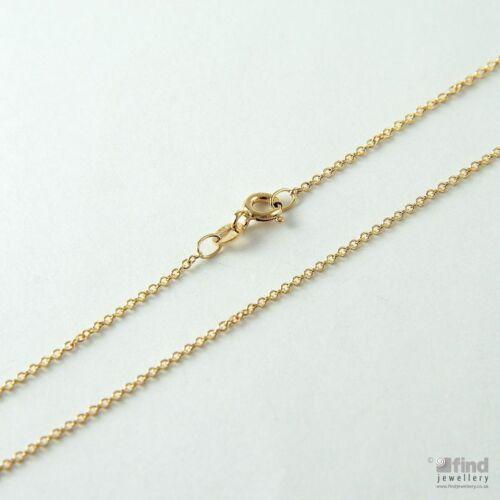 Para Mujer sólido de 9 quilates colgante de oro 16 Pulgadas Fino Trace Cadena 1,3 g RRP £ 80 Señoras
