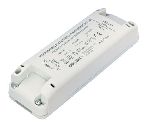0W 12Vac LED lights 210W Dimmable Electronic Transformer YT210 for LV-Halogen