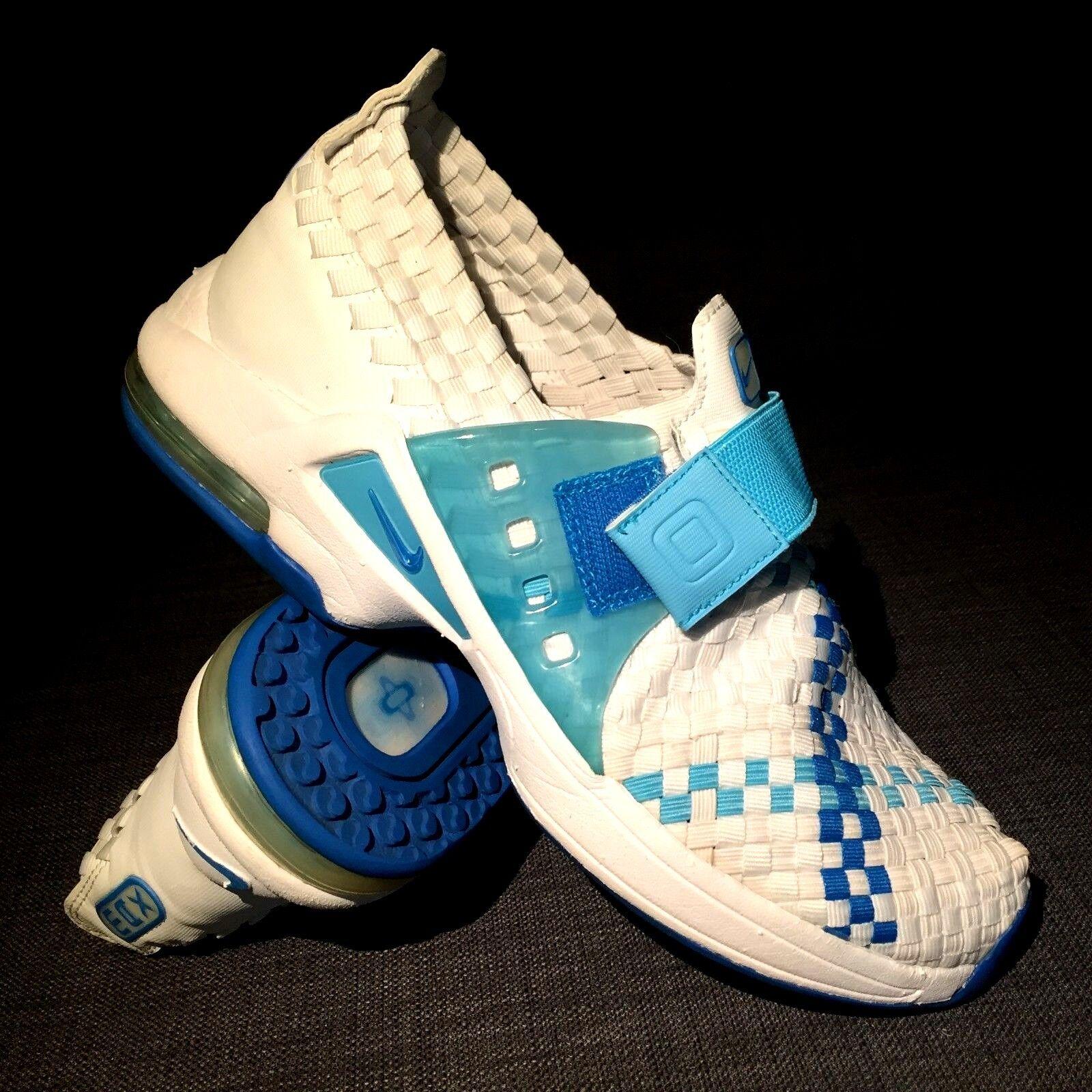 RARE VINTAGE NIKE RETRO AIR MAX BOX WEAVE Blanc Bleu trainers Sz 8.5 US 40 EUR