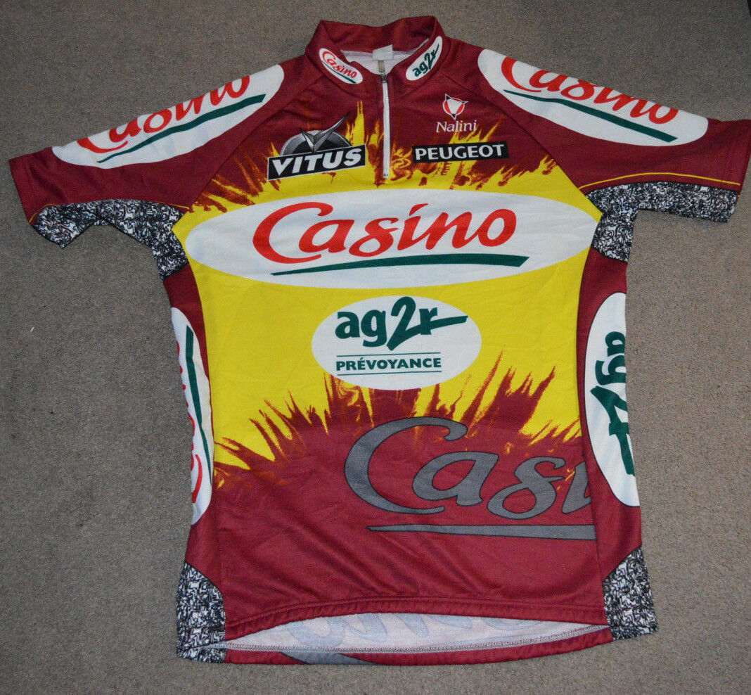 Vtg AG2R La Mondiale Nalini Casino Cycling RARE Jersey Sz 5 RARE Cycling ef70da