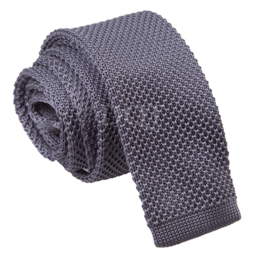 Evening Work Party Men/'s Knitted Polyester Plain Square Box Cut End Tie