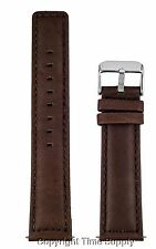 18 mm BROWN CALF LEATHER PADDED WATCH BAND / STRAP NEW SQUARE END